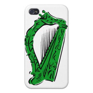 green black ornate harp music design.png iPhone 4 covers