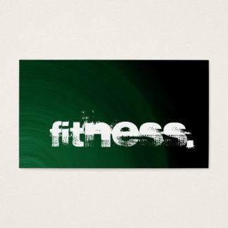 Green Black Personal Trainer Fitness Business Card