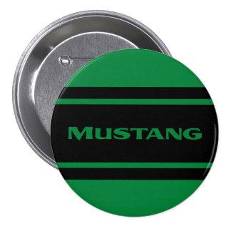 Green Black Race Stripe Muscle Car Button Pinback Button