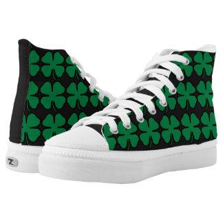 Green Black Shamrock Clover Irish Sneaker