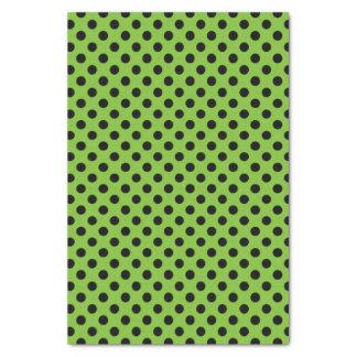 Green & Black Small Polka Dot Tissue Paper