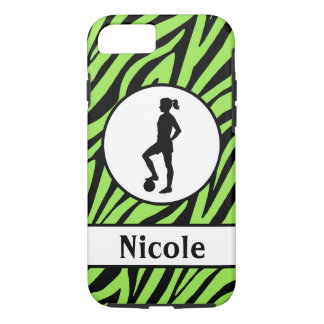 Green Black Soccer Cell Phone Case