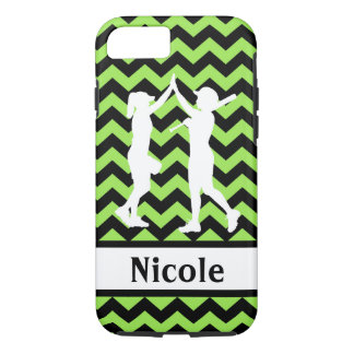 Green Black Softball Cell Phone Case