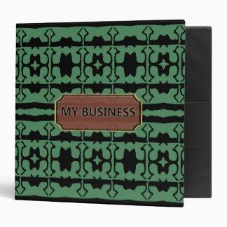 Green Black Star Line My Business Binder