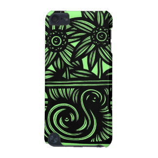 Green Black Two Flowers iPod Touch (5th Generation) Cover
