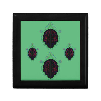 Green black vintage Ornaments Gift Box