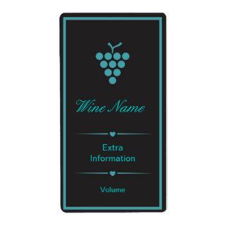 Green Black Wine Label