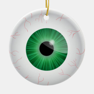 Green Bloodshot Eyeball Ornament