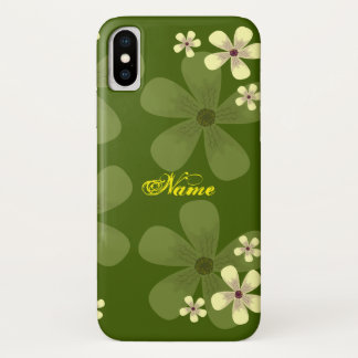 green blossom iPhone x case