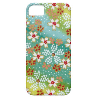 Green Blossoms Japanese Origami Print iPhone 5 Covers