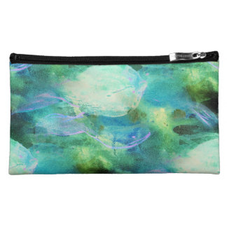 Green Blue Abstract Leaves bag