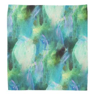 Green Blue Abstract Leaves bandana