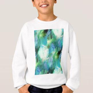 Green Blue Abstract Leaves Sweatshirt