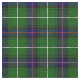 Green blue and red plaid fabric
