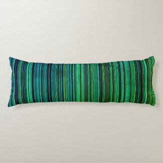 Green blue aqua retro stripe  body pillow