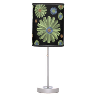 green blue black lamp shade