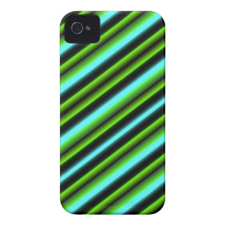 green blue black strips iPhone 4 covers