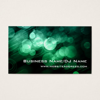 Green & Blue Bokeh (Music or DJ) Business Cards