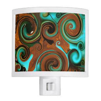 Green-Blue-Brown Swirls Nite Lights