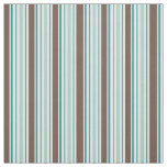 Green Blue Brown White Stripes Fabric