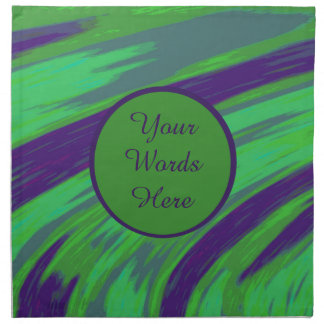 Green Blue Color Swish Abstract Napkin