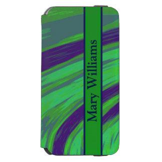 Green Blue Color Swish Incipio Watson™ iPhone 6 Wallet Case