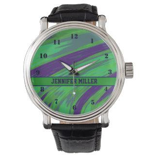 Green Blue Color Swish Wristwatch