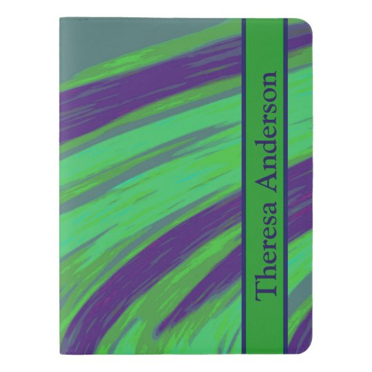 Green Blue Colour Swish Extra Large Moleskine Notebook
