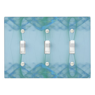 Green Blue Diamond Echo Over Light Switch Cover