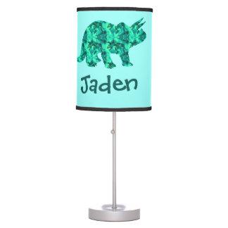 Green Blue Dinosaur Kids Lamp Personalized