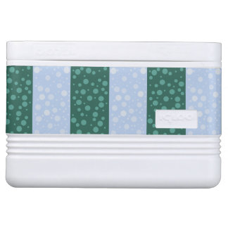 Green Blue Dots Igloo 12 Can Cooler