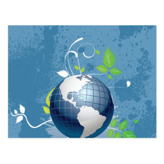 Green Blue Earth ~ Conserve Recycle Sustainable Postcard