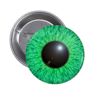 Green Blue Eye With Flare Button