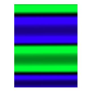 Green & Blue Horizontal Stripes Postcard