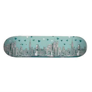 Green-blue NYC valentine Skate Boards