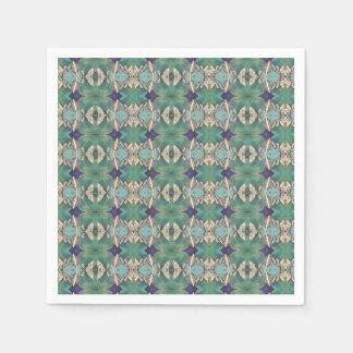 green blue ocean leaves napkin disposable napkins