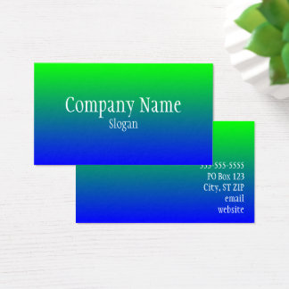 Green Blue Ombre Business Card