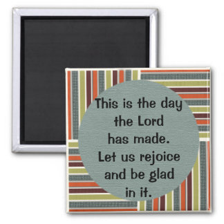 Green Blue Orange Striped Bible Verse Magnet