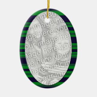 green blue  photoframe ceramic ornament