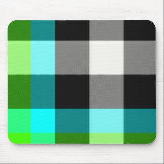 Green/Blue Plaid Mousepad