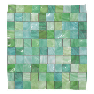 Green Blue Pool Tile Marble Pattern Bandana