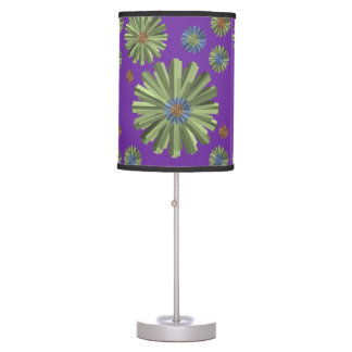 green blue purple lamp shade