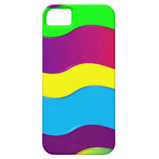 Green Blue Red Yellow Colorful Waves Pattern iPhone 5 Cover