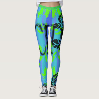 GREEN-BLUE-SURFER-BEACH-PATCH-LEGGING'S_XS-XL LEGGINGS