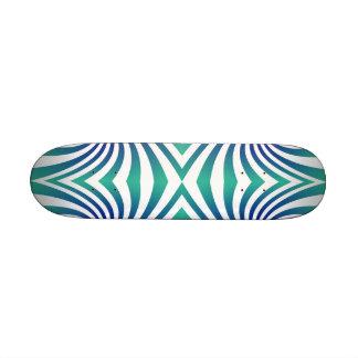 Green blue swirls skate boards