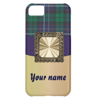 Green & blue tartan customizable iPhone 5C covers