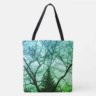 Green Blue Trees Beautiful Nature Tote Bag