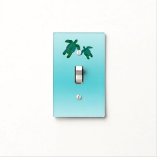 Green Blue Watercolor Ocean Sea Turtles Light Switch Cover