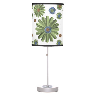 green blue white lamp shade