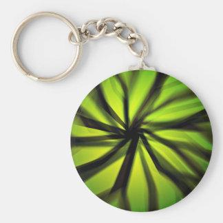 Green Blurred motion pattern Keychain